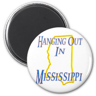 Mississippi - Hanging Out 2 Inch Round Magnet