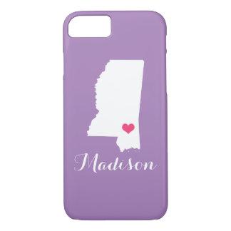 Mississippi Heart Lilac Custom Monogram iPhone 7 Case