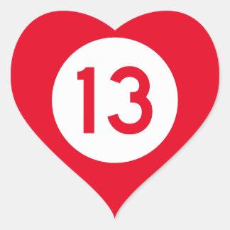 Mississippi Highway 13 Heart Sticker