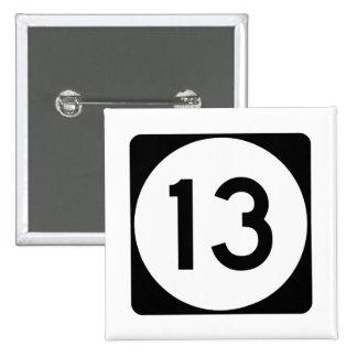 Mississippi Highway 13 Pinback Button