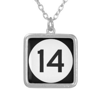 Mississippi Highway 14 Silver Plated Necklace