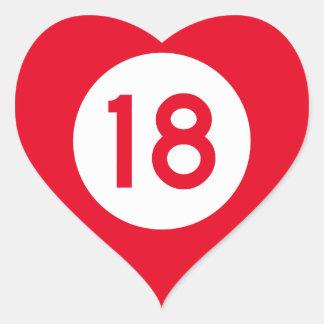 Mississippi Highway 18 Heart Sticker