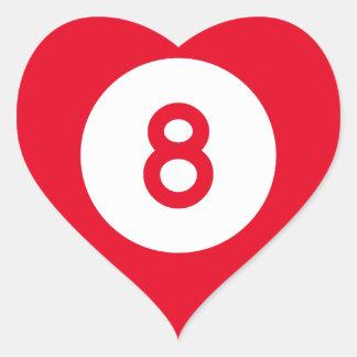 Mississippi Highway 8 Heart Sticker