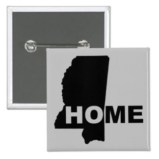 Mississippi Home Away From State Button Badge Pin