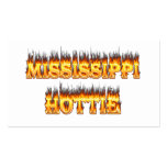 Mississippi hottie fire and flames business card templates