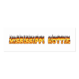 Mississippi hottie fire and flames business card