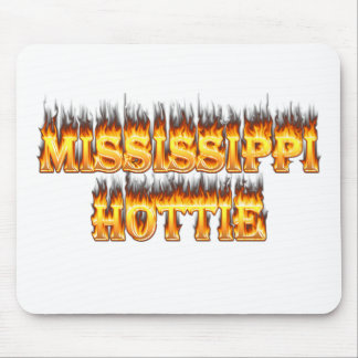 Mississippi hottie fire and flames mouse pad