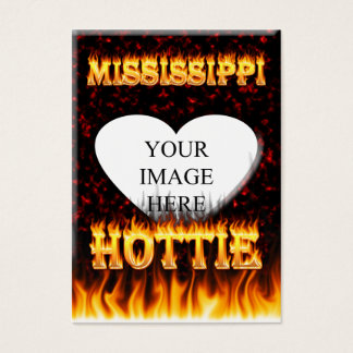 Mississippi Hottie fire and red marble Business Card