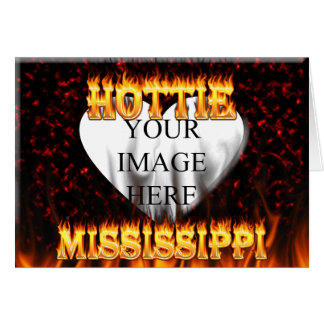 Mississippi Hottie fire and red marble Card