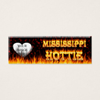 Mississippi Hottie fire and red marble Mini Business Card