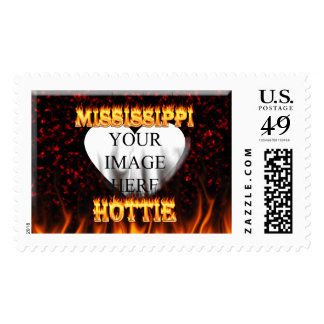 Mississippi Hottie fire and red marble Postage Stamp