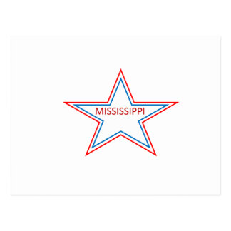 Mississippi in a star. postcard