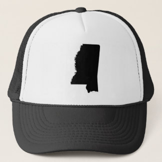 Mississippi in Black and White Trucker Hat