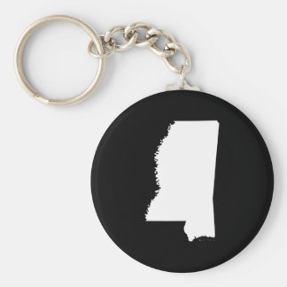 Mississippi in White and Black Keychain