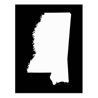 Mississippi in White and Black Postcard