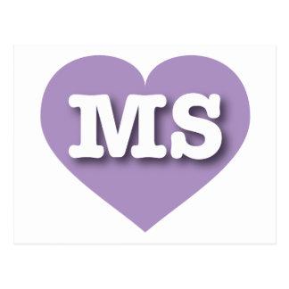 Mississippi Lavender Heart - Big Love Postcard