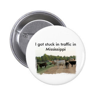 Mississippi Levee Cows 2 Inch Round Button