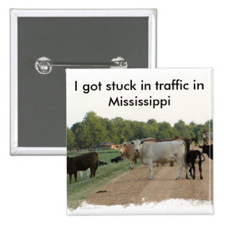 Mississippi Levee Cows Button