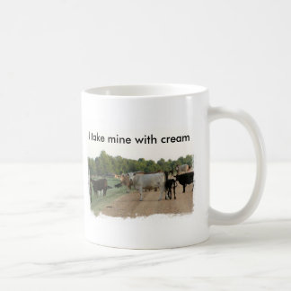 Mississippi Levee Cows Classic White Coffee Mug