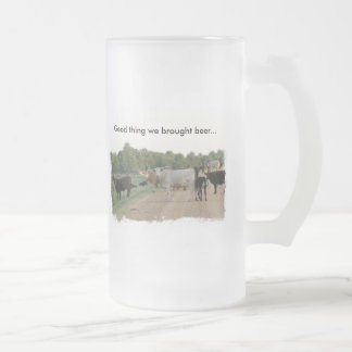 Mississippi Levee Cows 16 Oz Frosted Glass Beer Mug