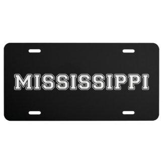 Mississippi License Plate