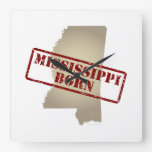 Mississippi llevado - sello en mapa reloj de pared