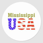 ¡Mississippi los E.E.U.U.! Etiquetas Redondas