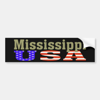 ¡Mississippi los E.E.U.U.! Pegatina para el Pegatina Para Auto