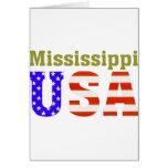 ¡Mississippi los E.E.U.U.! Tarjeta