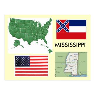 Mississippi los E.E.U.U. Tarjeta Postal