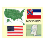 Mississippi los E.E.U.U. Tarjetas Postales