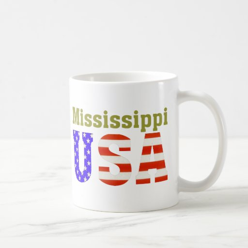 ¡Mississippi los E.E.U.U.! Taza De Café