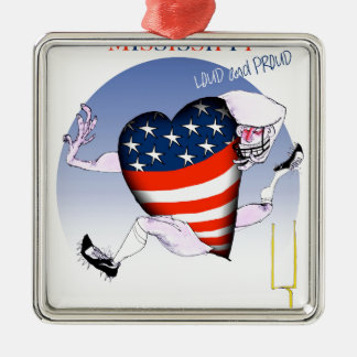 mississippi loud and proud, tony fernandes metal ornament