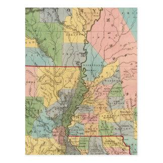 Mississippi, Louisiana, Arkansas Postcard