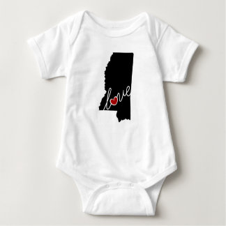Mississippi Love!  Gifts for MS Lovers Baby Bodysuit