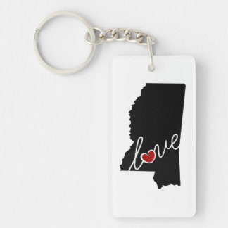 Mississippi Love!  Gifts for MS Lovers Keychain