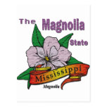 Mississippi Magnolia State  Flower Postcards
