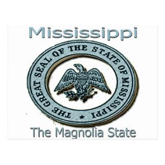 Mississippi Magnolia State Seal Postcard
