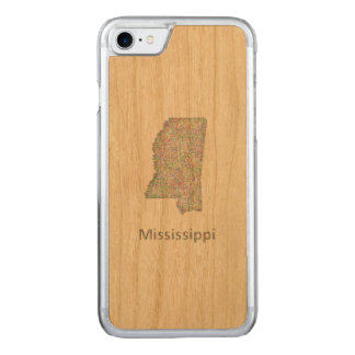 Mississippi map carved iPhone 7 case