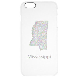 Mississippi map clear iPhone 6 plus case