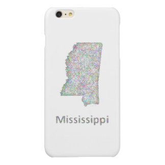 Mississippi map glossy iPhone 6 plus case