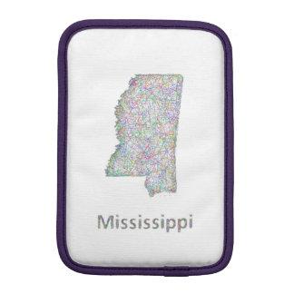 Mississippi map iPad mini sleeve