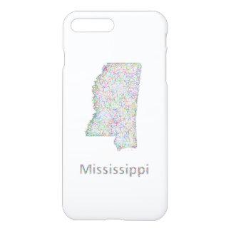Mississippi map iPhone 7 plus case