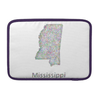 Mississippi map MacBook air sleeve