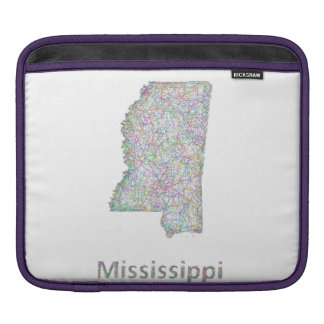 Mississippi map sleeve for iPads