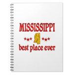 Mississippi mejor libro de apuntes con espiral