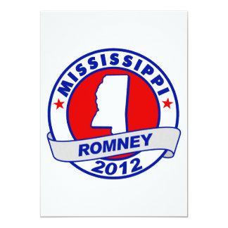 Mississippi Mitt Romney 5x7 Paper Invitation Card