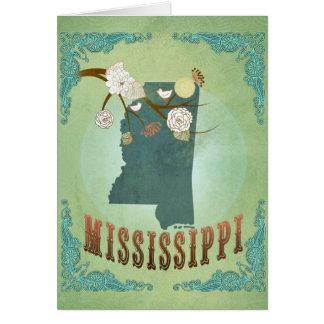 Mississippi Modern Vintage State Map – Green Card