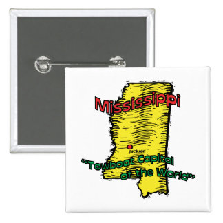 Mississippi MS  Motto ~ Towboat Capital of World Button