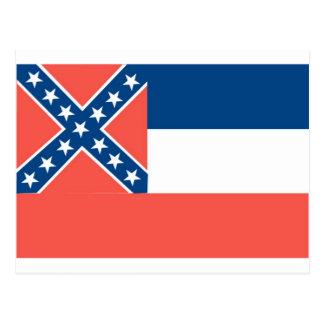 Mississippi  Official State Flag Postcard